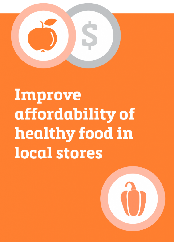 Improve affordability of healthy food in local stores